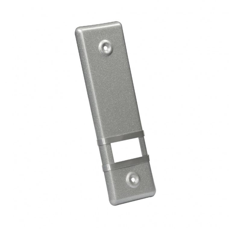 JAROLIFT Design Aluminium-Abdeckplatte für Gurtwickler / LA: 135mm / silber