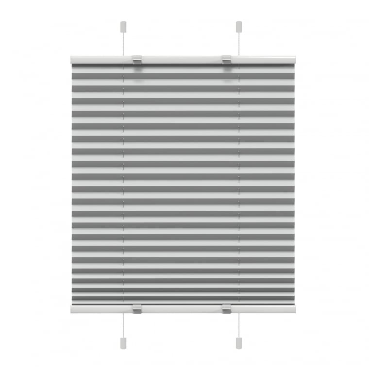 VICTORIA M EasyFix Plissee 95 x 150cm, grau