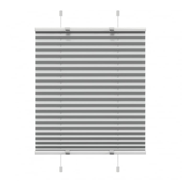 VICTORIA M EasyFix Plissee  90 x 200cm, grau
