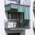 JAROLIFT Außenrollo / Senkrechtmarkise 180 x 240cm, grün / weiß