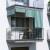 JAROLIFT Außenrollo / Balkon / Senkrechtmarkise 180 x 240cm, grün / weiß