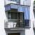 JAROLIFT Außenrollo / Balkon / Senkrechtmarkise 100 x 140cm, blau / weiß