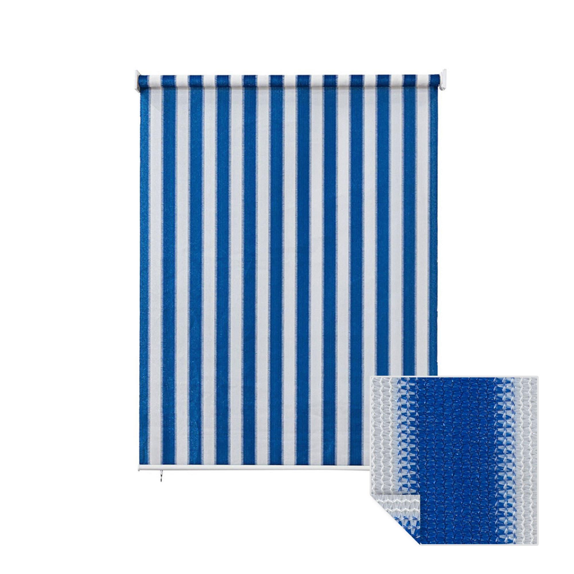 au enrollo balkon senkrechtmarkise 180 x 240cm blau wei jarolift. Black Bedroom Furniture Sets. Home Design Ideas