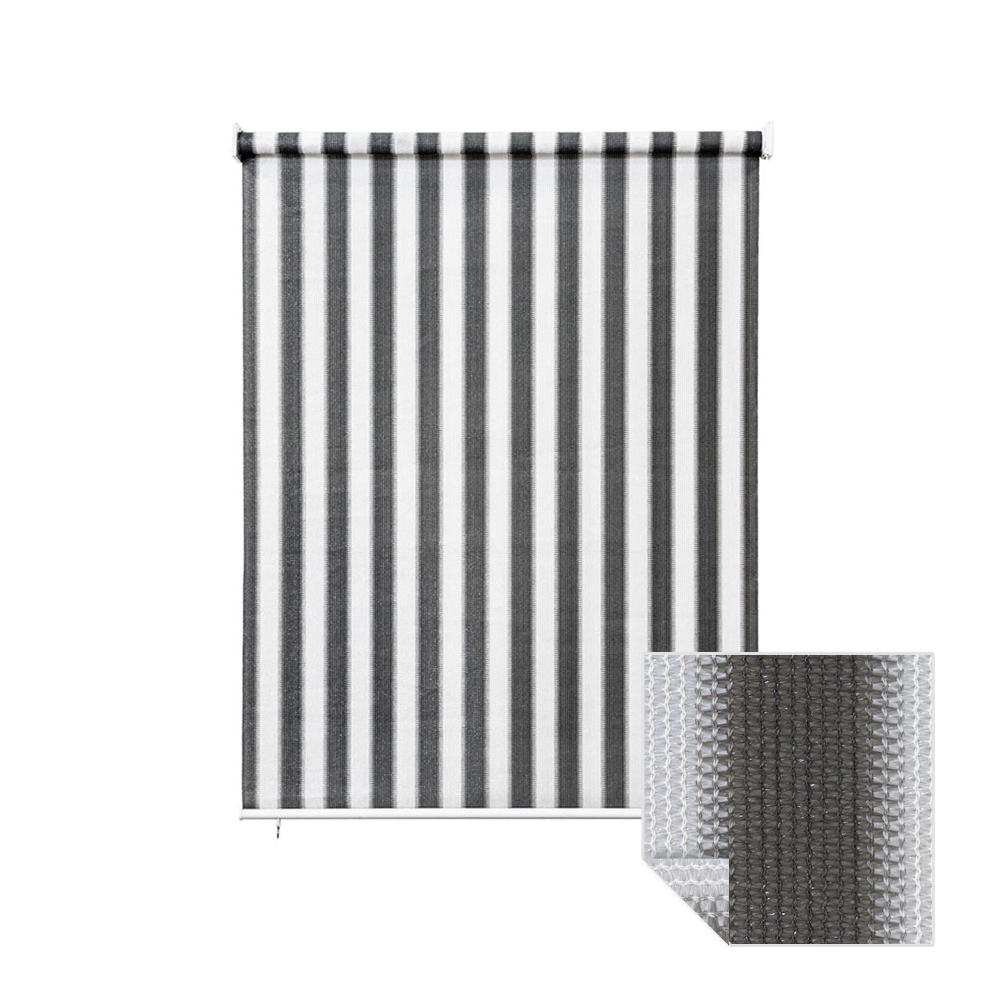 au enrollo balkon senkrechtmarkise 180 x 240cm grau wei jarolift. Black Bedroom Furniture Sets. Home Design Ideas
