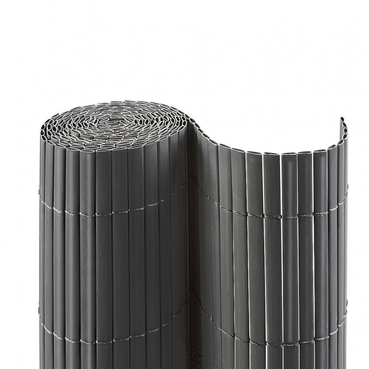JAROLIFT PVC Sichtschutzmatte 100 x 400cm, grau