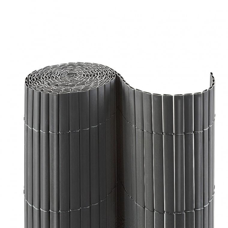 JAROLIFT PVC Sichtschutzmatte 80 x 500cm, grau