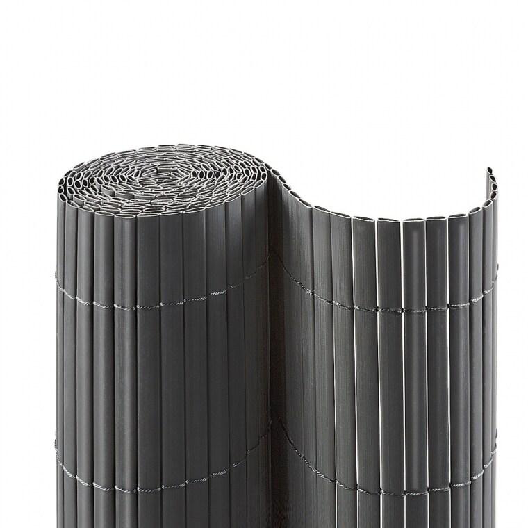 JAROLIFT PVC Sichtschutzmatte 140 x 1000cm (2x 5m Länge), grau