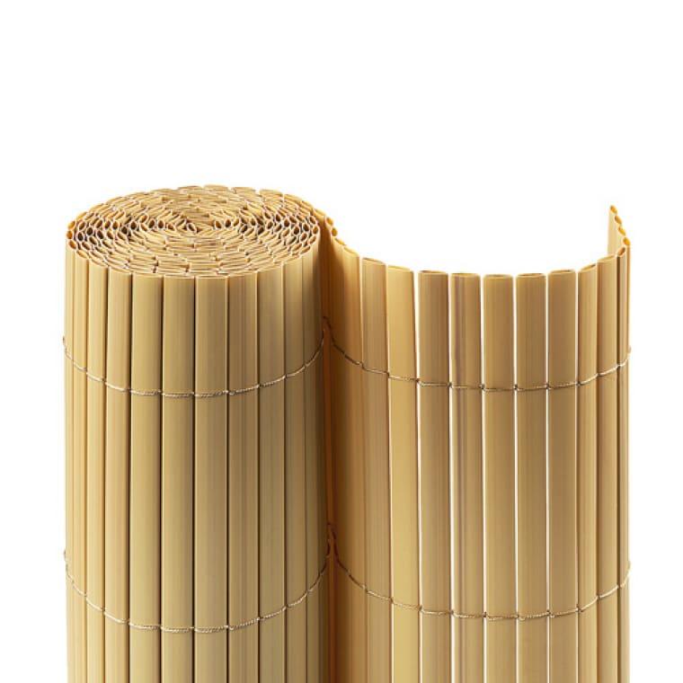 JAROLIFT PVC Sichtschutzmatte 80 x 300cm, bambus