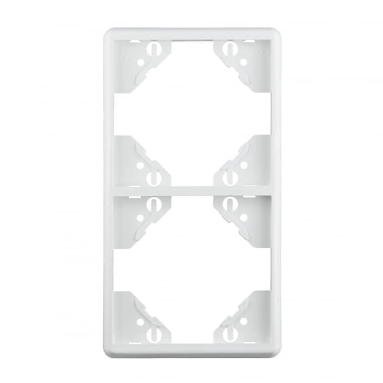 JAROLIFT System JS1 2-fach Rahmen in weiß (senkrecht)