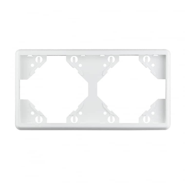 JAROLIFT System JS1 2-fach Rahmen in weiß (waagerecht)