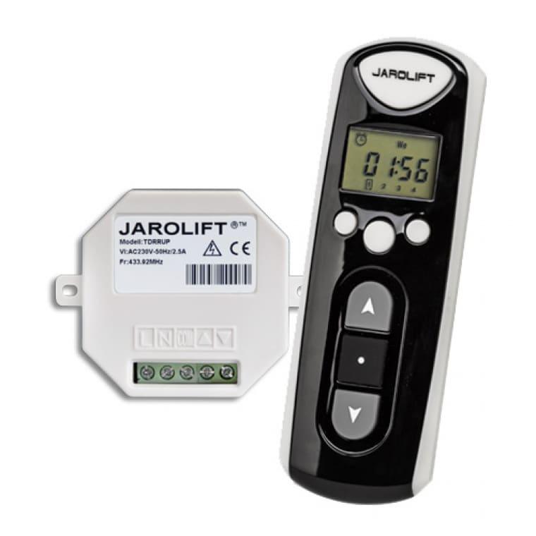JAROLIFT Funk-Zeitschaltuhr-Fernbedienung & 1-fach Funkempfänger Unterputz