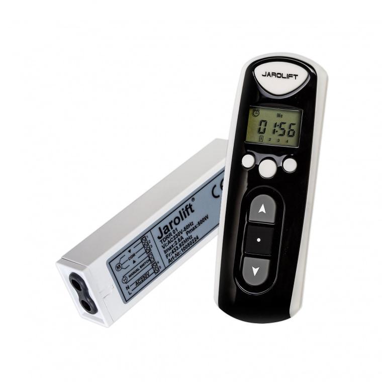 JAROLIFT Funk-Zeitschaltuhr-Fernbedienung & 1-fach Rollladenkasten Funkempfänger