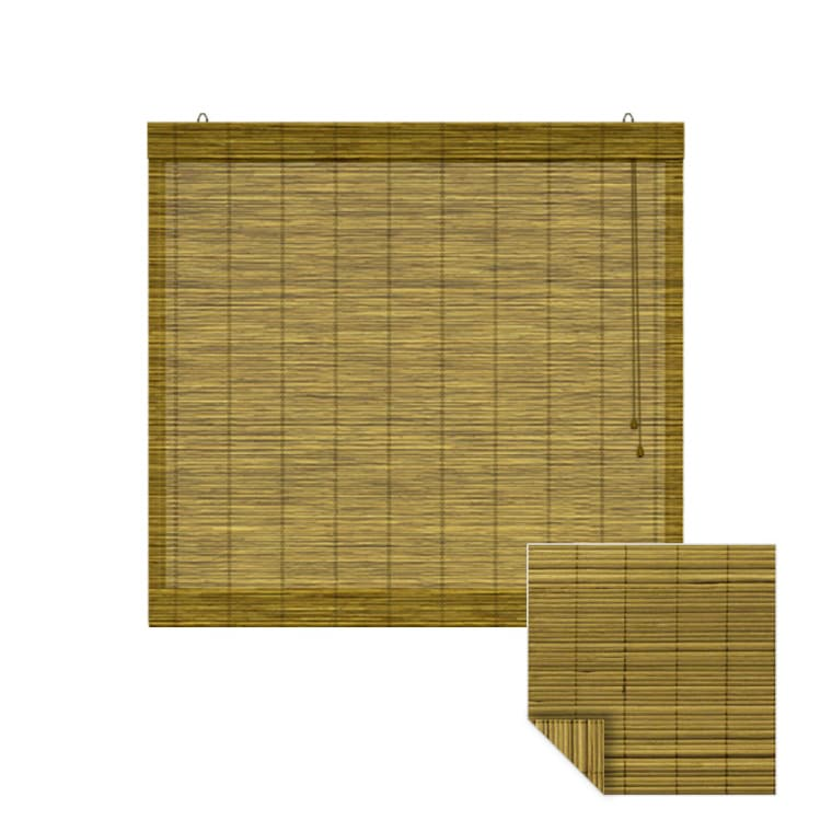 VICTORIA M Bambus-Raffrollo 120 x 160cm, braun