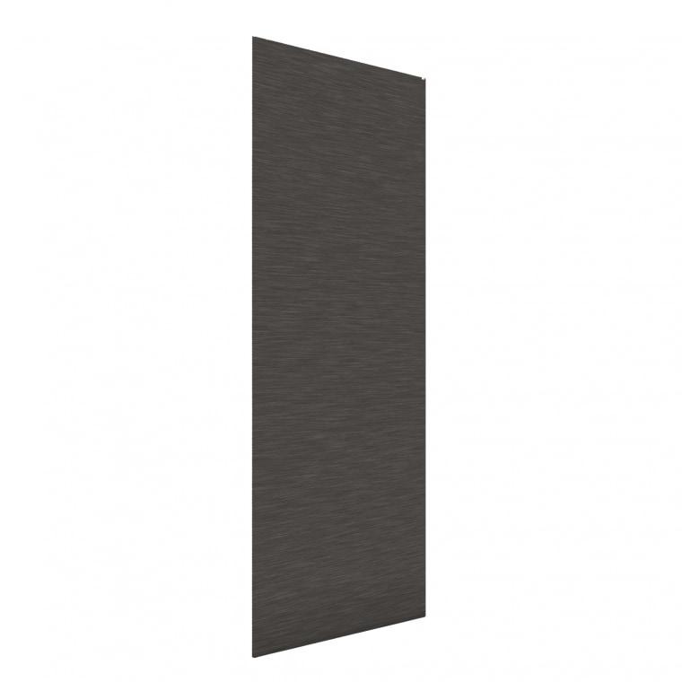VICTORIA M Flächenvorhang strukturiert 60 x 250cm, grau (Strich Muster)