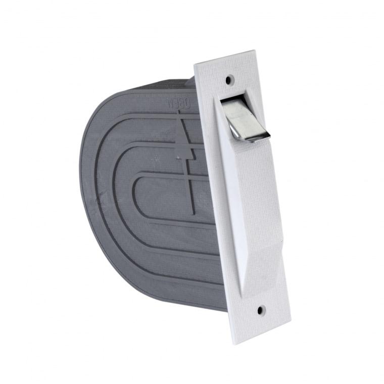 JAROLIFT Mini-Einlass Gurtwickler mit Mauerkasten, weiss (080101)