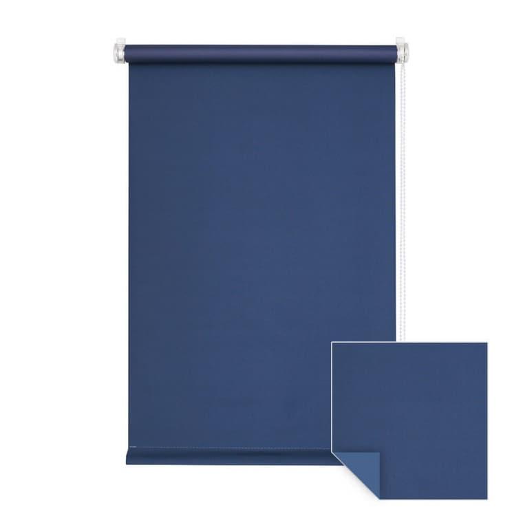 VICTORIA M Klemmfix Verdunkelungsrollo 90 x 150cm, dunkelblau