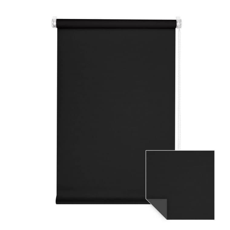 VICTORIA M Klemmfix Verdunkelungsrollo 90 x 150cm, schwarz