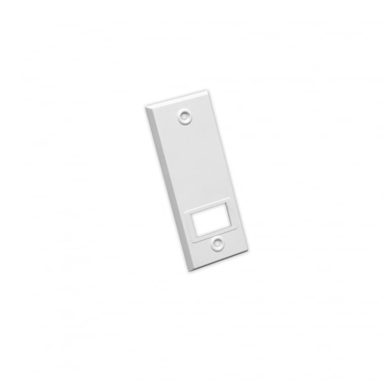JAROLIFT Kunststoff-Abdeckplatte für Einlass- / Getriebe-Gurtwickler | weiß / LA: 104mm