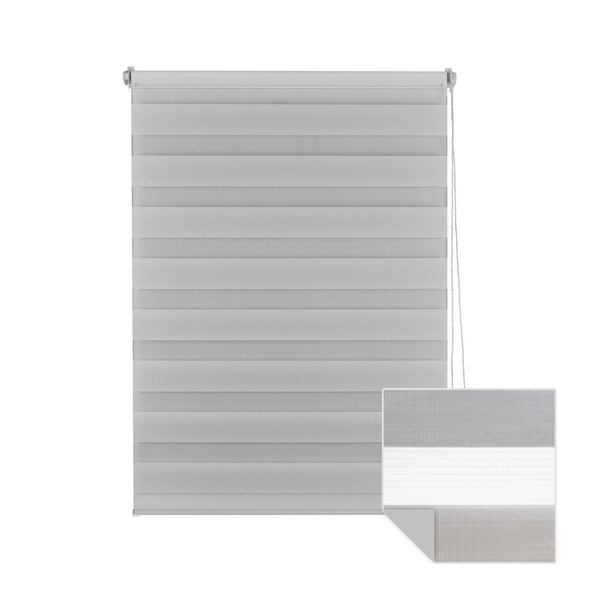 klemmfix doppelrollo duo rollo 65 x 150cm grau. Black Bedroom Furniture Sets. Home Design Ideas