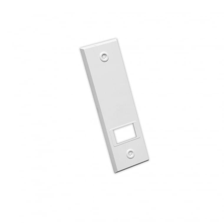 JAROLIFT Kunststoff-Abdeckplatte für Einlass- / Getriebe-Gurtwickler | weiß / LA: 134mm
