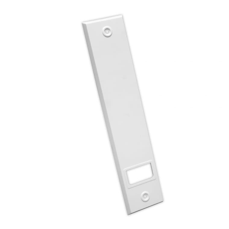 JAROLIFT Kunststoff-Abdeckplatte für Einlass- / Getriebe-Gurtwickler | weiß / LA: 214mm