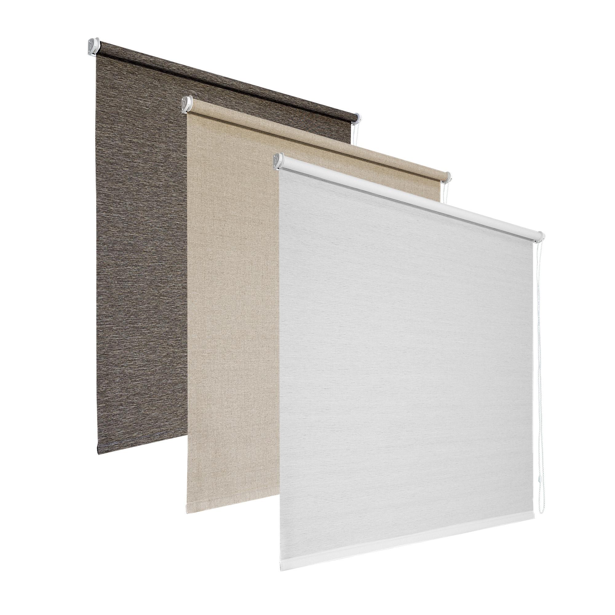 klemmfix strukturrollos in naturstoffoptik sichtschutzrollos zum klemmen victoria m. Black Bedroom Furniture Sets. Home Design Ideas