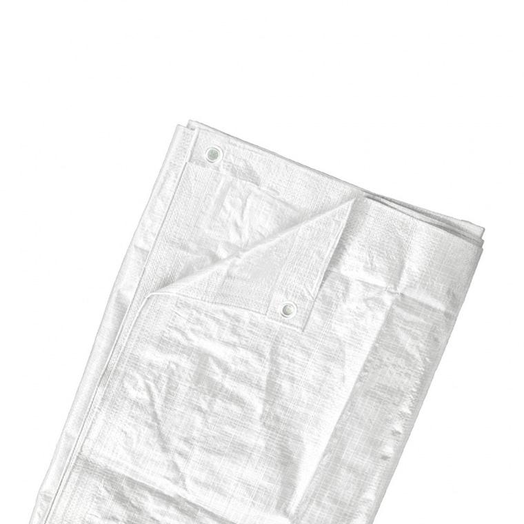 JAROLIFT Abdeckplane / Gewebeplane 2 x 3m (Polyethylen 90g/m²), weiss
