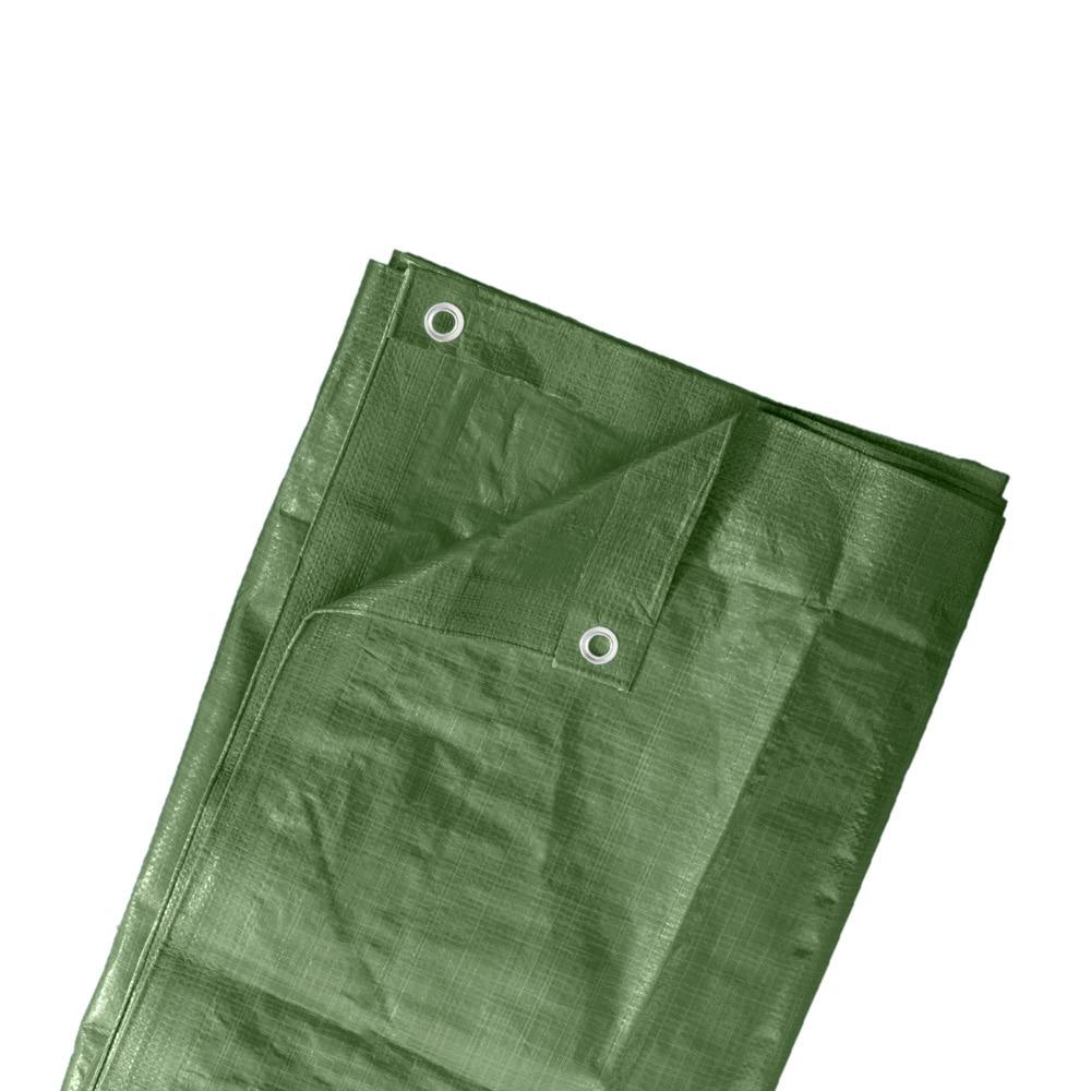 Gewebeplane dunkelgrün 4 x 5m Abdeckhaube Gartenstühle Wasserdicht