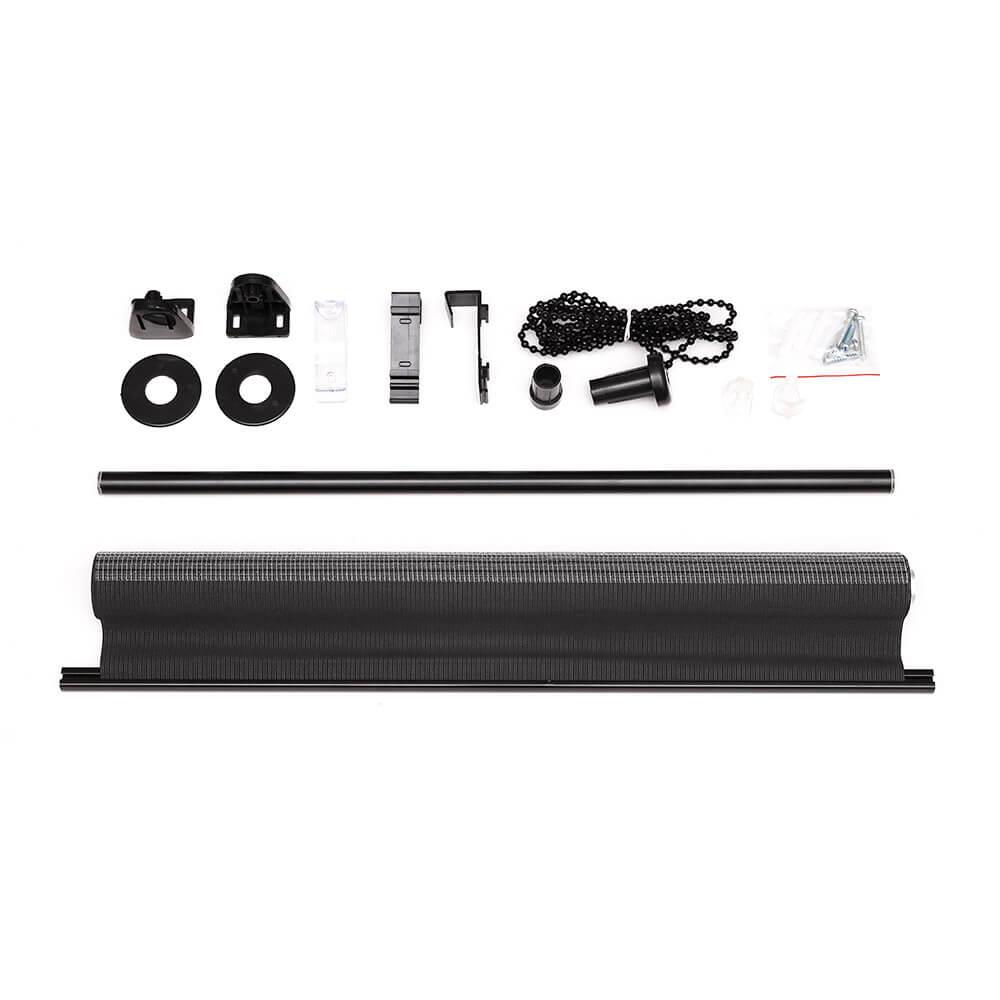 klemmfix doppelrollo duo rollo 50 x 150cm schwarz victoria m. Black Bedroom Furniture Sets. Home Design Ideas