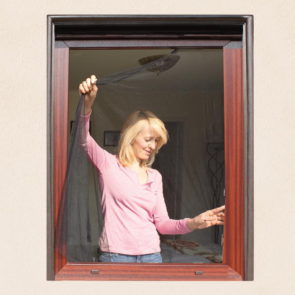 Fliegengitter f r fenster 130 x 150cm schwarz for Fenster schnelle lieferung