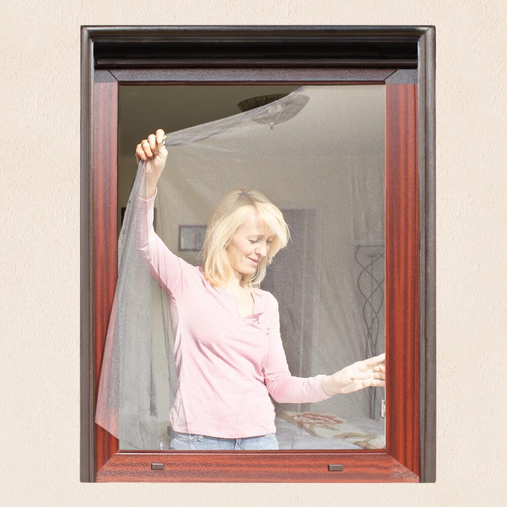 Fliegengitter f r fenster 130 x 150cm weiss for Fenster schnelle lieferung