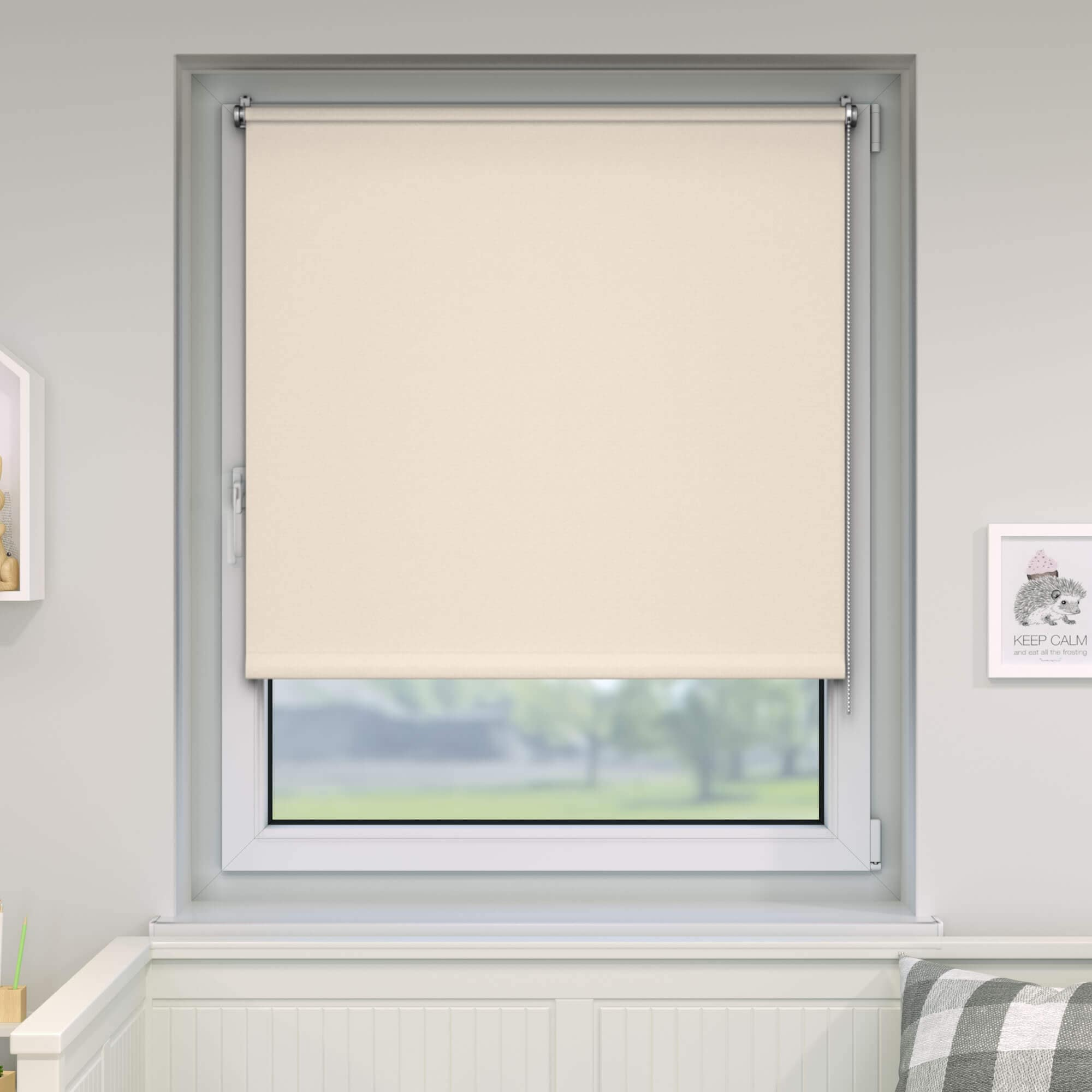 klemmfix verdunkelungsrollo rollo 60 x 150cm creme victoria m standard rollos. Black Bedroom Furniture Sets. Home Design Ideas