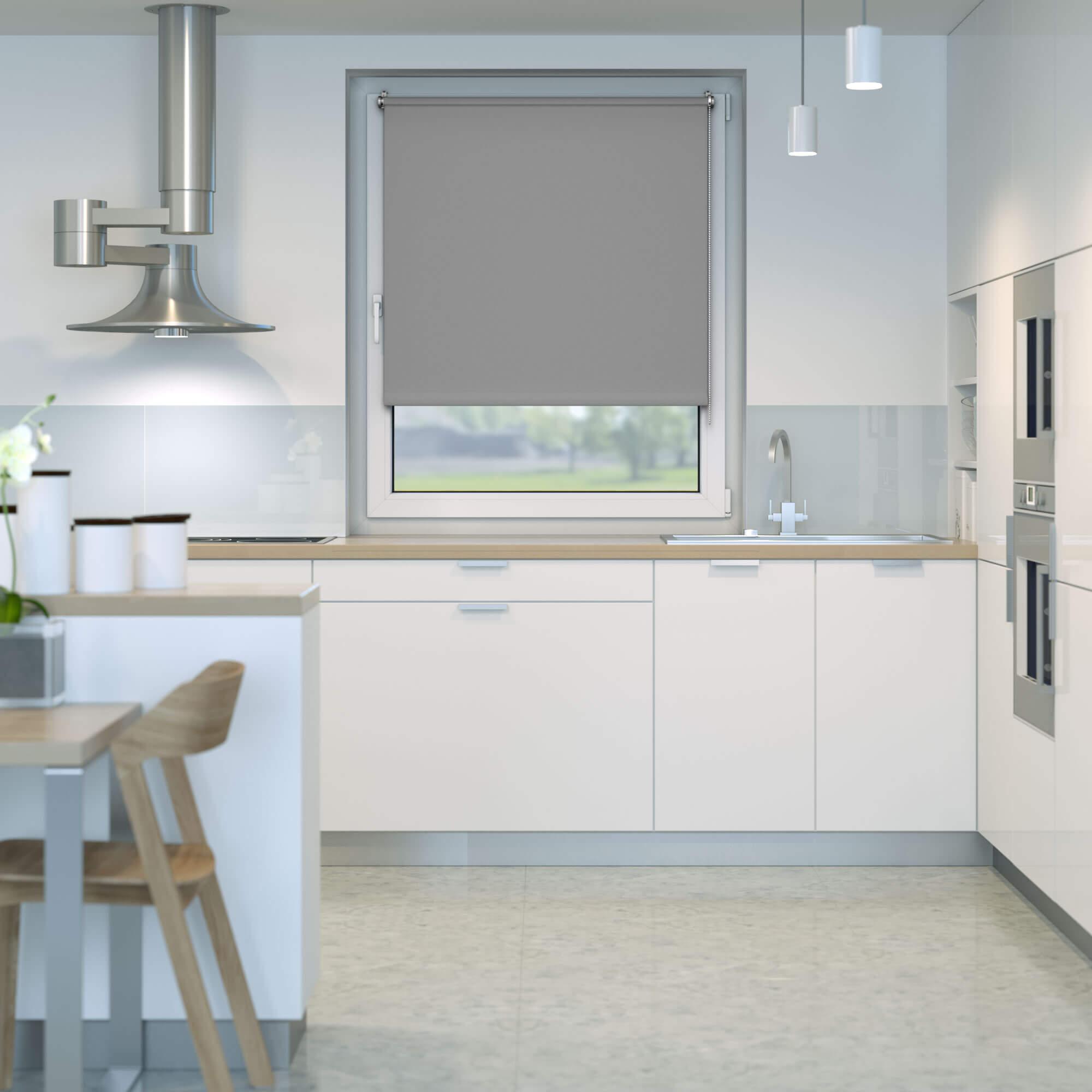 klemmfix verdunkelungsrollo rollo 100 x 150cm grau victoria m standard rollos. Black Bedroom Furniture Sets. Home Design Ideas