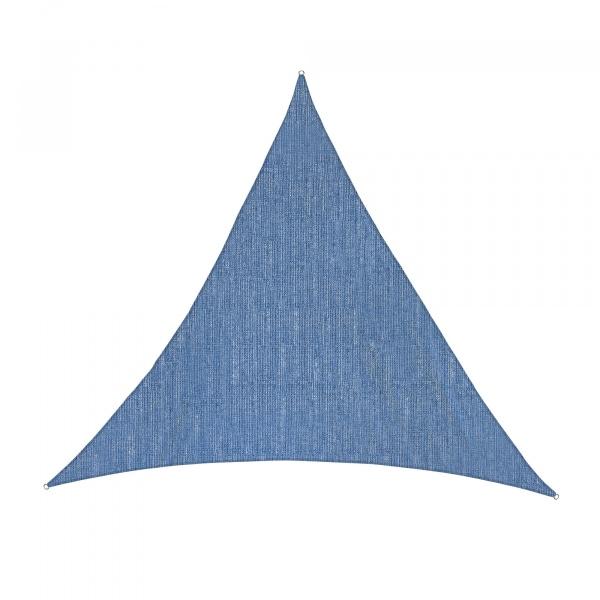 Sonnensegel - 360 x 360 x 360cm - azurblau - dreieckig - atmungsaktiv (3,6 x 3,6 x 3,6m)