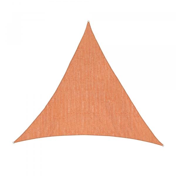 Sonnensegel - 500 x 500 x 500cm - orange - dreieckig - atmungsaktiv (5,0 x 5,0 x 5,0m)