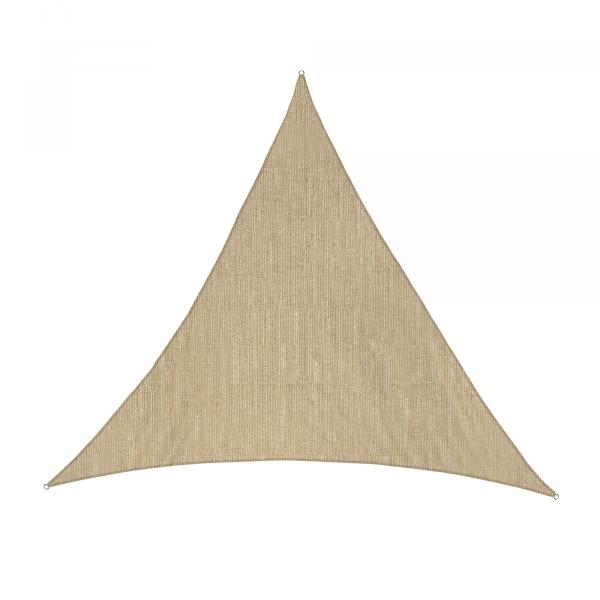 Sonnensegel - 360 x 360 x 360cm - sand - dreieckig - atmungsaktiv (3,6 x 3,6 x 3,6m)
