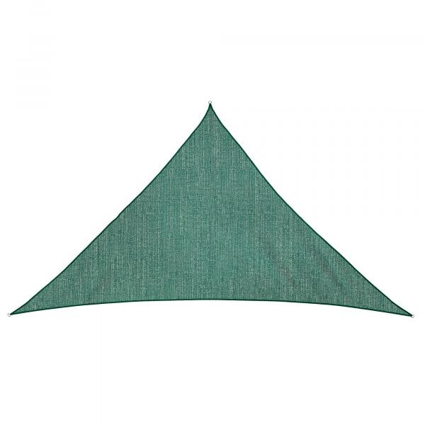 Sonnensegel - 360 x 360 x 360cm - grün - dreieckig - atmungsaktiv (3,6 x 3,6 x 3,6m)