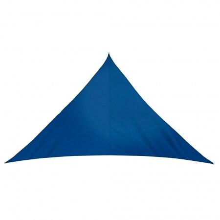 sonnensegel 510 x 360 x 360cm azurblau rechtwinklig dreieckig wasserabweisend 5 1 x 3 6. Black Bedroom Furniture Sets. Home Design Ideas