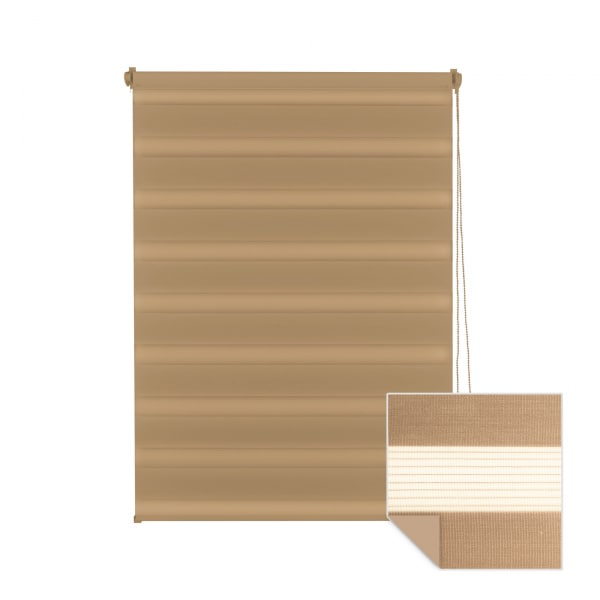 doppelrollo braun. Black Bedroom Furniture Sets. Home Design Ideas