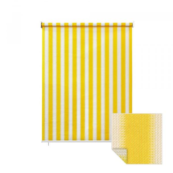 au enrollo balkon senkrechtmarkise 240 x 230cm gelb wei jarolift. Black Bedroom Furniture Sets. Home Design Ideas