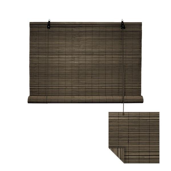 Klemmfix Bambusrollo 60 x 160cm, dunkelbraun