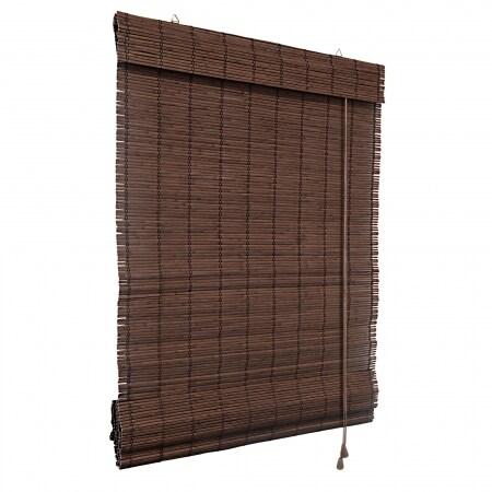 bambus raffrollo 90 x 220cm dunkelbraun victoria m. Black Bedroom Furniture Sets. Home Design Ideas