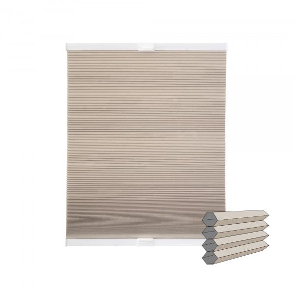 Klemmfix Wabenplissee | verdunkelnd, 120 x 130 cm, beige