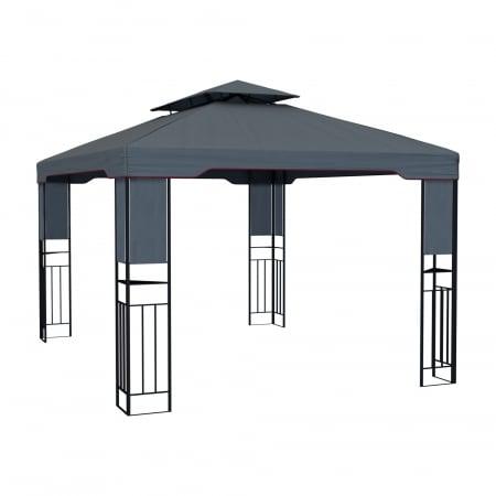 PARAMONDO Deluxe Gartenpavillon 4 x 3m, anthrazit