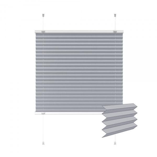 Indiva Lite Plissee | 75 x 100 cm, grau