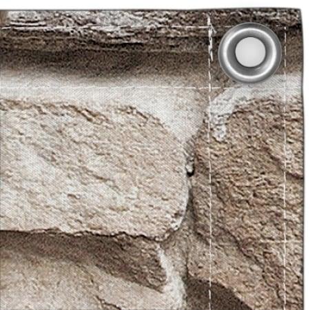 JAROLIFT Balkonbespannung Sichtschutz 500 x 90cm - Steine Design - wasserabweisend - JAROLIFT