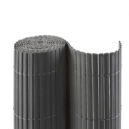 pvc sichtschutzmatte 100 x 700cm grau sichtschutzzaun. Black Bedroom Furniture Sets. Home Design Ideas