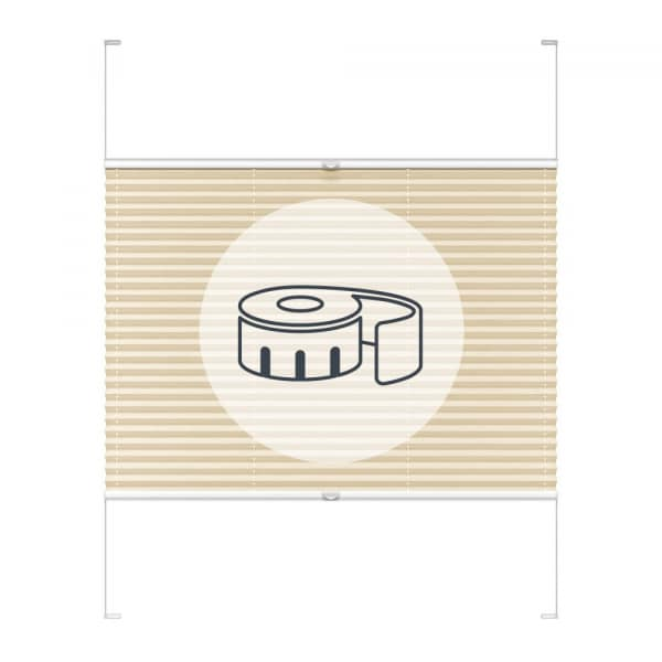 Faltstore-Plissee mit Seitenführung nach Maß | Delphos-System