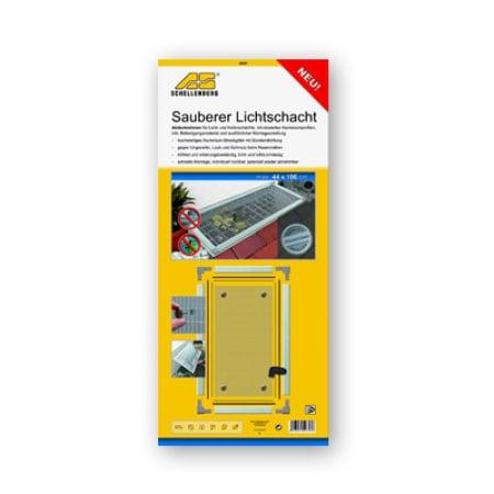Schellenberg Sauberer Lichtschacht Alu-Rahmen