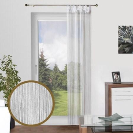 fadenvorhang weiss. Black Bedroom Furniture Sets. Home Design Ideas